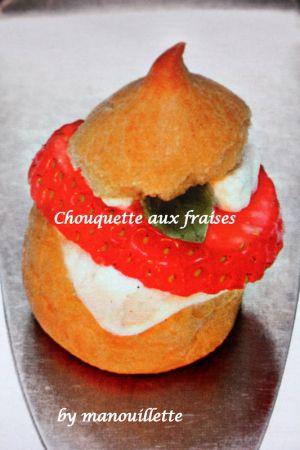 Recette Chouquette aux fraises