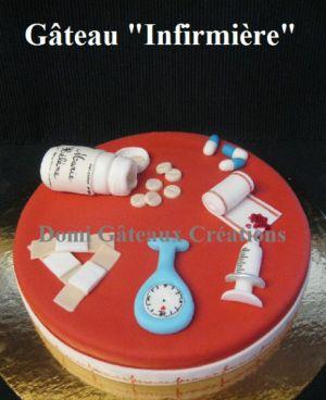 """Recette Gâteau """"Infirmière"""" en Pâte à Sucre (version 2)"""