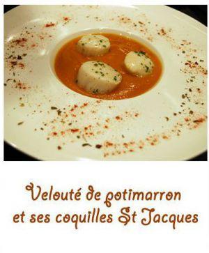 Recette Velouté de potimarron et coquilles St Jacques