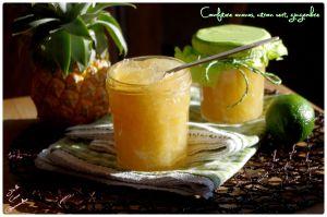 Recette Confiture ananas, citron vert et gingembre