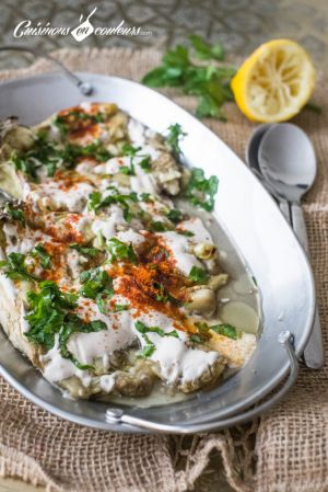 Recette Aubergines rôties, sauce au tahiné