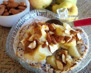 Recette Porridge quinoa-amandes automnal