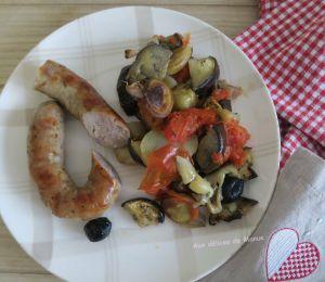 Recette Saucisse de Toulouse et légumes au four