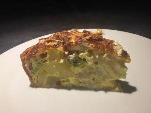 Recette Tarte brocolis, pomme de terre, lardons et camembert