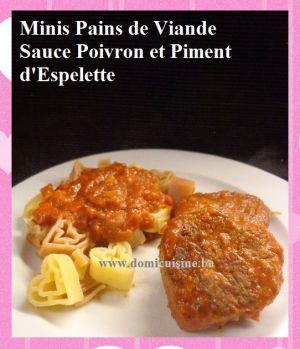 Recette St Valentin: Minis Pains de Viande en ♥ sauce Poivron et Piment d'Espelette