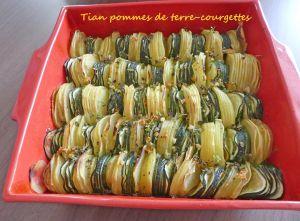 Recette Tian pommes de terre-courgettes