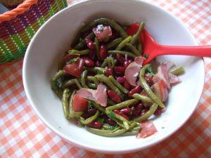 Recette Salade aux deux haricots
