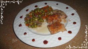 Recette Nuggets de poulet et petits pois frais
