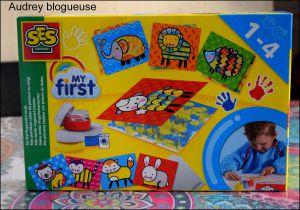 """Recette Activité pour les enfants """"ses créative """" (Mes premières cartes de peinture au doigt)"""