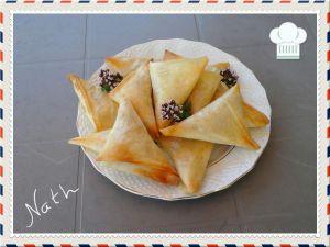 Recette Triangles croustillants aux oignons frits