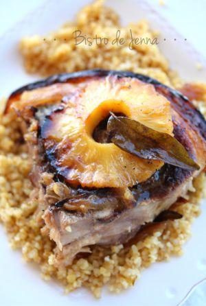 Recette Rouelle de porc caramélisé à l'ananas