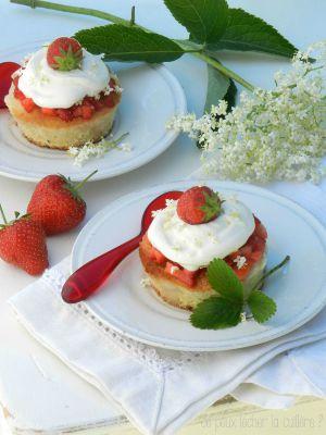 Recette Génoise aux fraises et aux fleurs de sureau