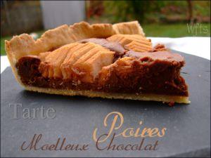 Recette Tarte poires et moelleux chocolat