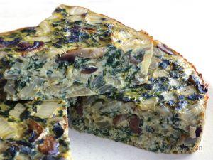 Recette Frittata aux blettes et aux champignons