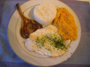 Recette Plie à la compote de fenouil au safran et fenouil à la plancha