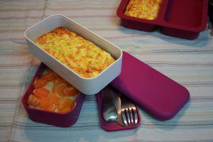 Recette Frittata de courgette et carotte, riz au lait