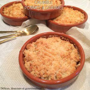 Recette Crumble pommes & caramel Cyril Lignac