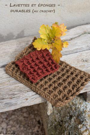 Recette – DIY – Lavettes et éponges durables (au crochet)