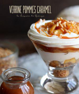 Recette Verrines gourmandes pommes caramel