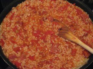 Recette Risotto en mode hispanique (risotto au chorizo )