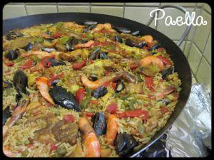 Recette Paëlla à la viande et aux fruits de mer