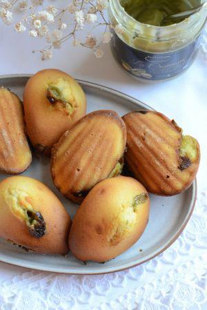 Recette Madeleines coeur de pistache