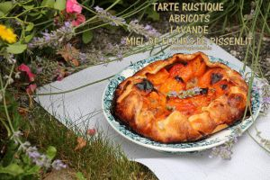 Recette Tarte rustique aux abricots, lavande et miel de fleurs de pissenlit