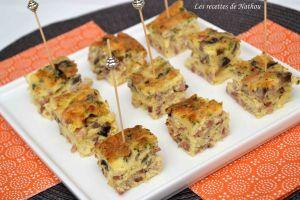 Recette Frittata aux lardons et champignons pour l'apéro !