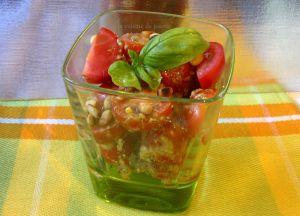 Recette Salade de tomates pignons de pin et pistou