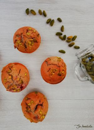 Recette Muffins pistaches framboises