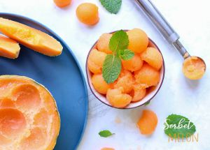 Recette Sorbet melon maison