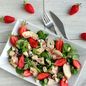 Recette Salade de Fraises & Poulet