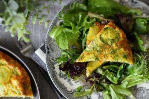 Recette Frittata de courgettes feta, recette facile