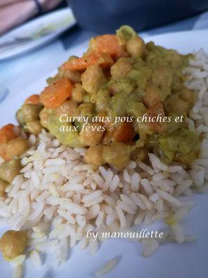 Recette Curry aux pois chiches et aux fèves