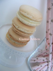Recette Macaron chocolat blanc fève tonka
