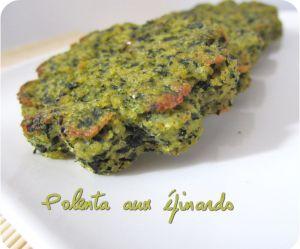 Recette Polenta aux épinards