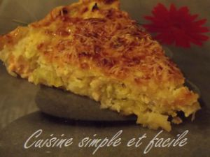 Recette Quiche poireaux et saumon