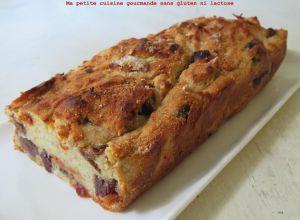 Recette Cake à la banane et aux pruneaux, cranberries et baies de Goji sans gluten ni lactose