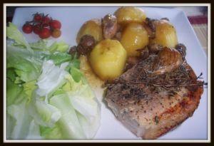 Recette Rouelle de porc et ses pommes de terre