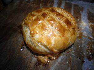 Recette Feuilletée camembert aux pommes de terre-lardons-oignons