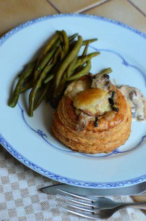 Recette Bouchées feuilletées au jambon et aux champignons