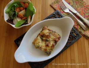 Recette Lasagne de poulet aux deux sauces