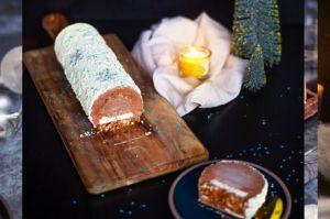 Recette Bûche de Noël Frozen 3 chocolats