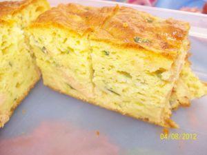 Recette Cake au saumon et courgette