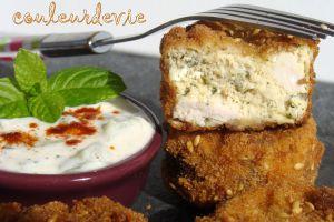 Recette Bouchées de poulet façon nuggets, sauce raïta