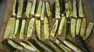 Recette Cougettes rôties aux herbes
