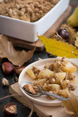 Recette Crumble aux poires et châtaignes