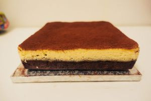 Recette Brownie cheesecake pécan