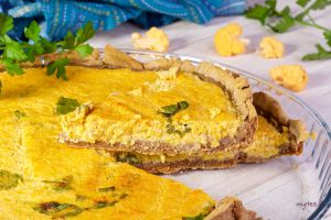 Recette Tarte au chou-fleur orange VEGAN