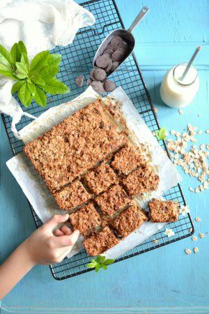 Recette Barres de céréales aux amandes et au chocolat